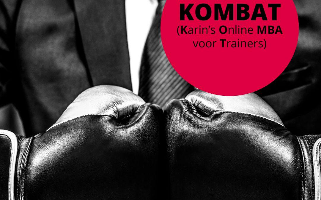 Kombat, het nieuwe adviestraject start op 1 november